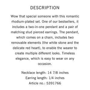 4ba0f898858 Swarovski Jewelry - Swarovski Love Set (Necklace + Earrings)